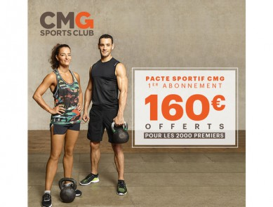 Offre promotionnelle CMG Sports Club