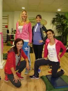 Sylviane responsable du Club, Dalila, Marjorie et Marion nos coachs sportifs.